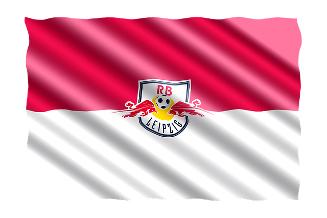 Fahne mit RB Leipzig Logo drauf