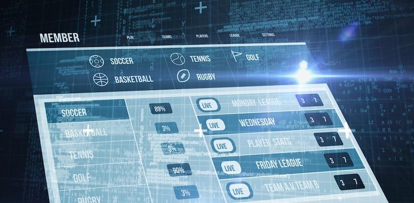 Screenshot einer Sportwetten App Hauptseite