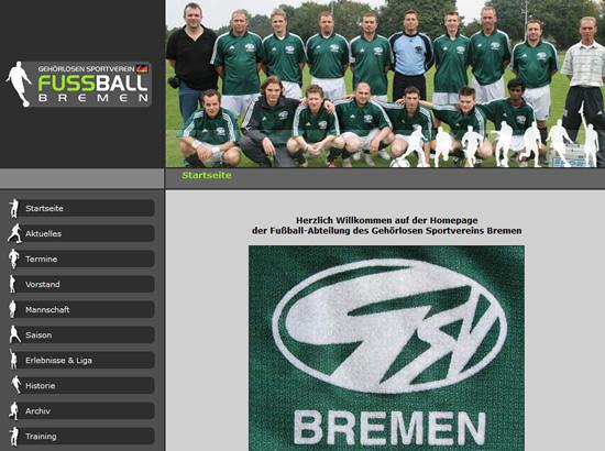 Screenshot der Homepage vom GSV Bremen, aufgenommen am 03.09.2008