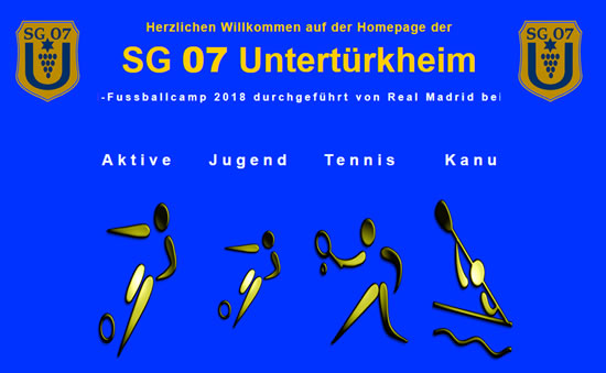 Screenshot der Homepage vom SG 07 Untertürkheim, aufgenommen am 09.04.2019