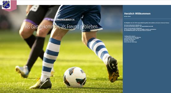Screenshot der Homepage vom SV 1930 Langenselbold (www.sv1930.de), aufgenommen am 31.03.2016