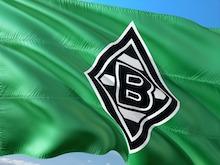 Flagge vom Fussballverein Borussia Mönchengladbach