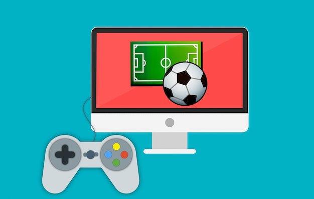 Spielekonsole mit Fifa 20 Fussballspiel