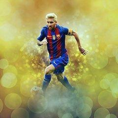 Weltfussballer Lionel Messi vom FC Barcelona