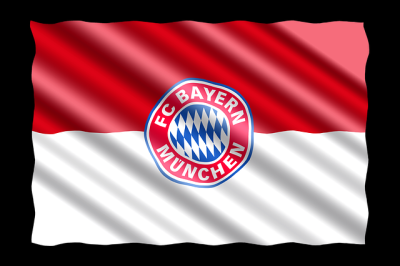 Fahne des FC Bayern München Fußball Meisters 2020