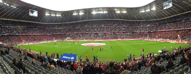 Blick in die Allianz Arena, das Stadion des FC Bayern München