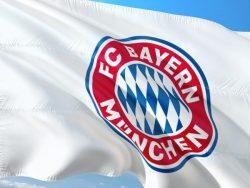 Flagge mit dem Wappen des FC Bayern München