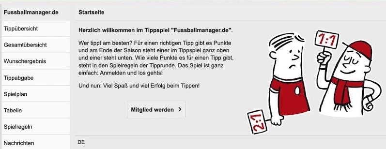 Fußball Tippspiel von fussballmanager.de